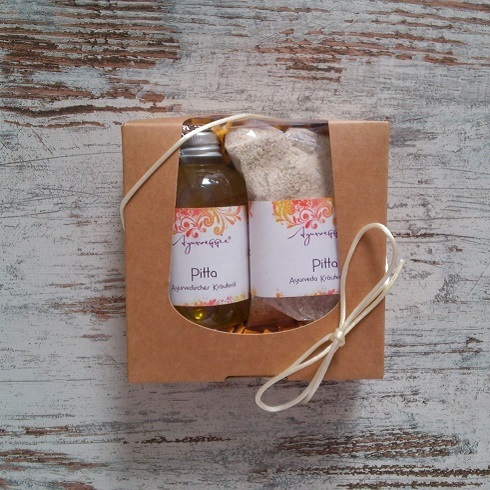 ayurvedisches Bodyspa-Set PITTA (Öl & Peeling)