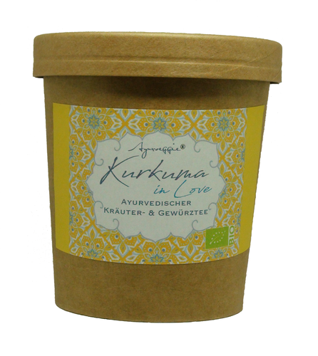 Ayurveda Tee KURKUMA IN LOVE - *BIG PACK Becher* 100g Ayurveggie